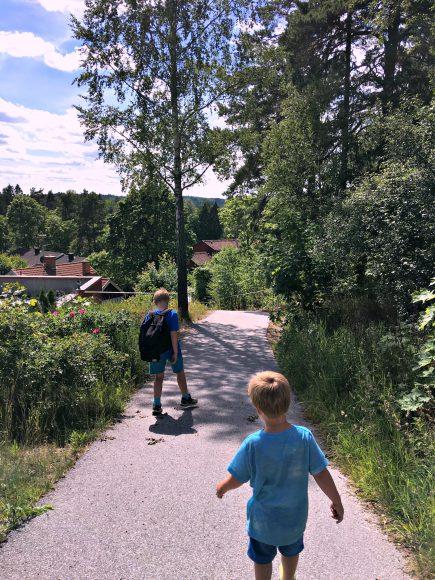 Promenera med barn